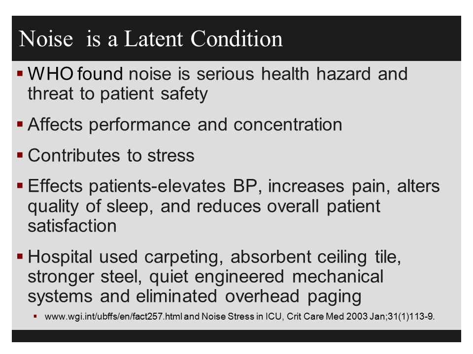 Noise is a Latent Condition