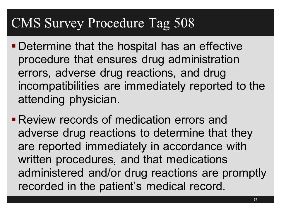 CMS Survey Procedure Tag 508