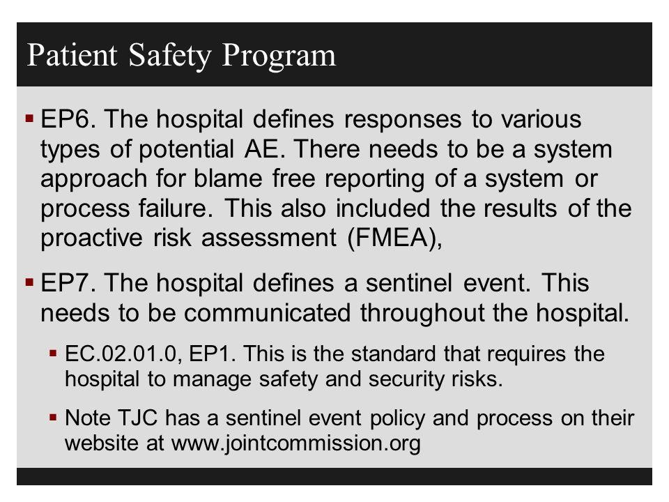Patient Safety Program
