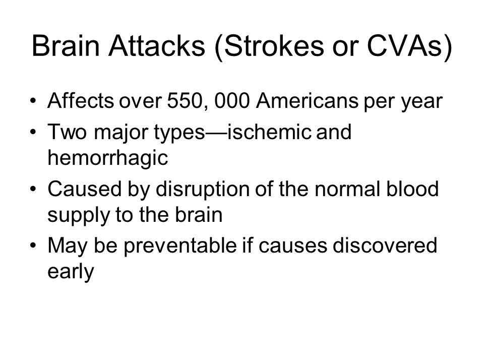 Brain Attacks (Strokes or CVAs)