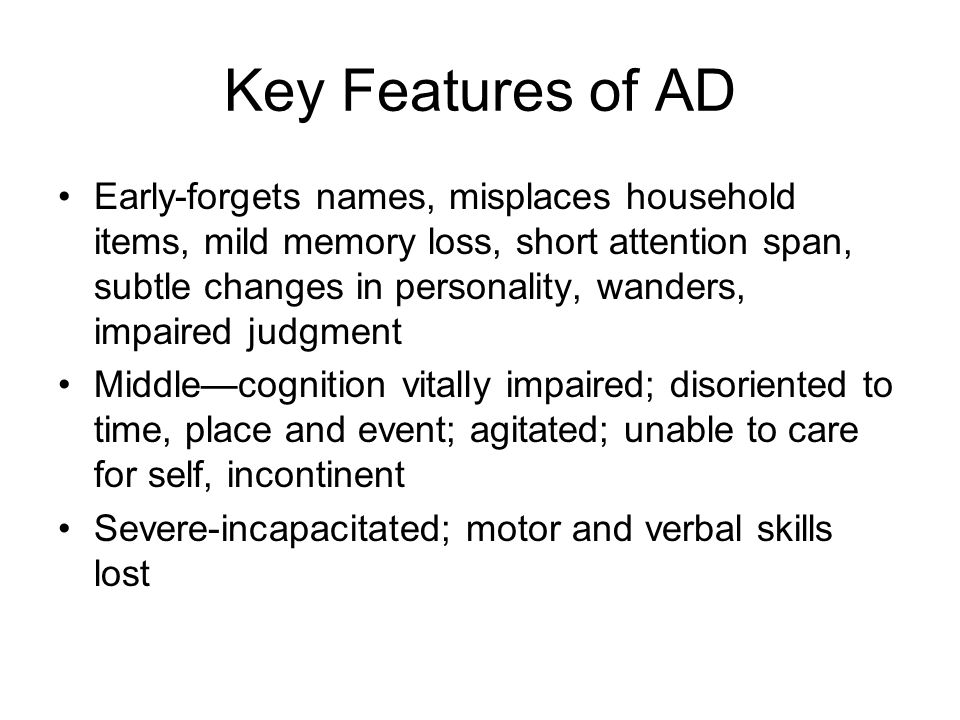 Key Features of AD