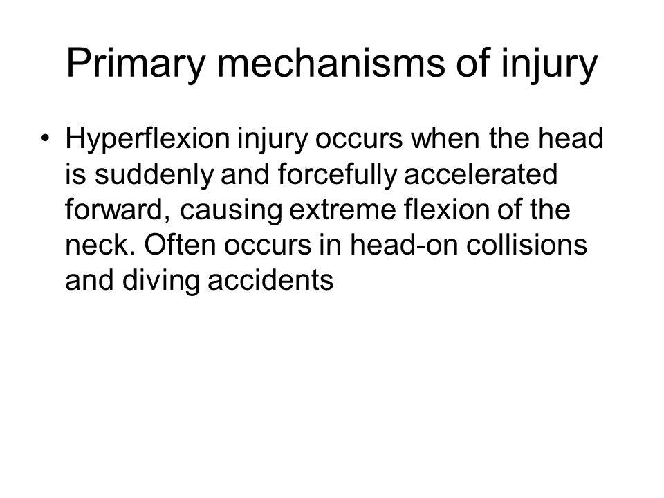 Primary mechanisms of injury