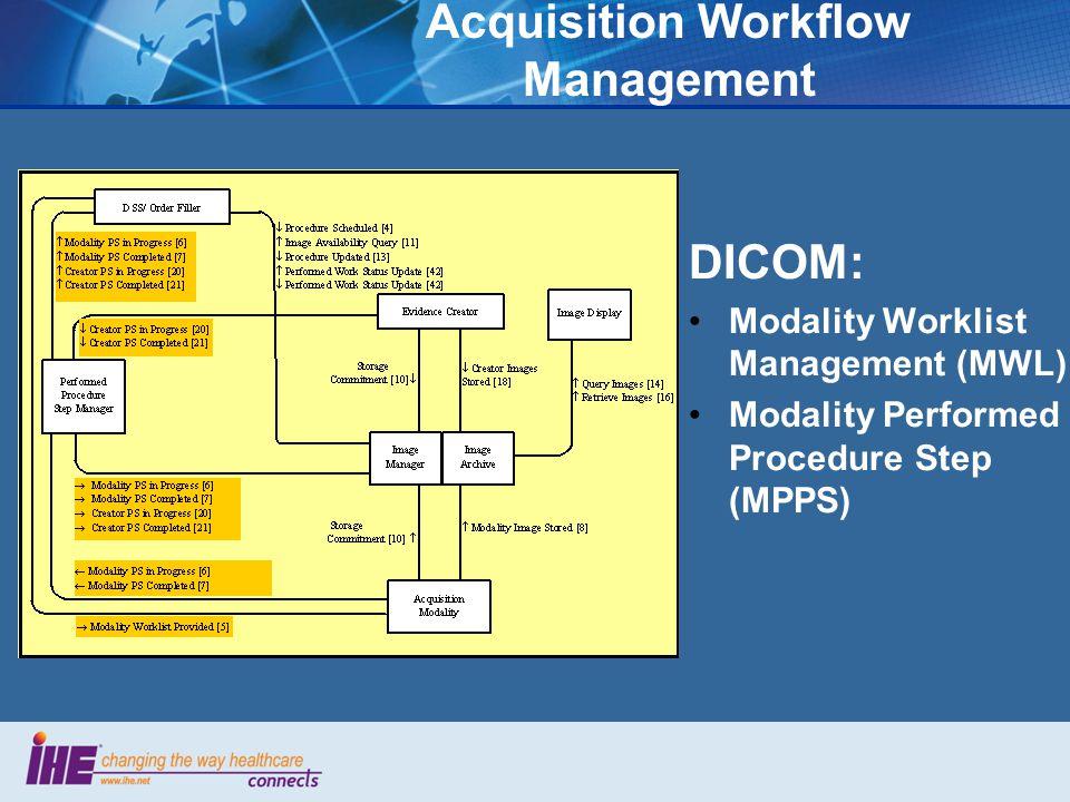 Acquisition Workflow Management