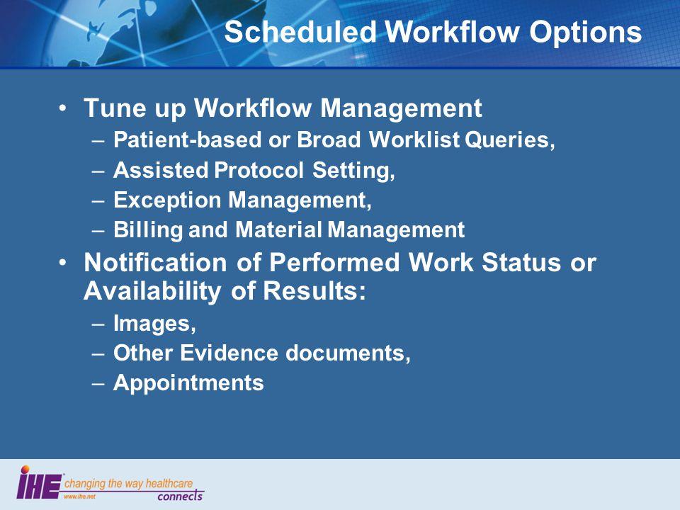 Scheduled Workflow Options