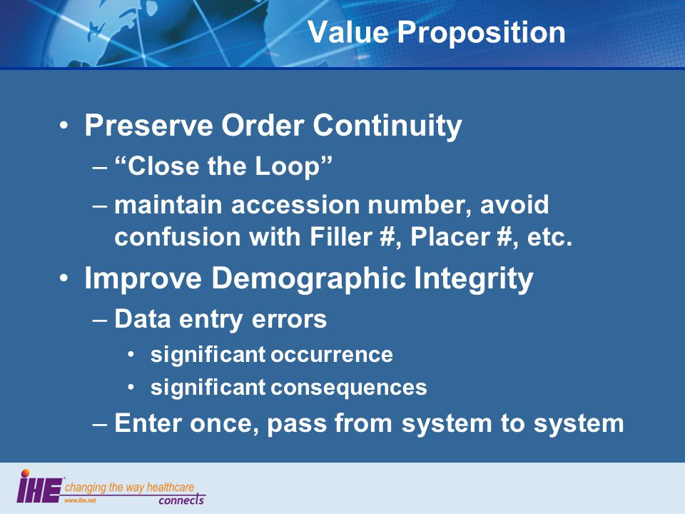 Preserve Order Continuity