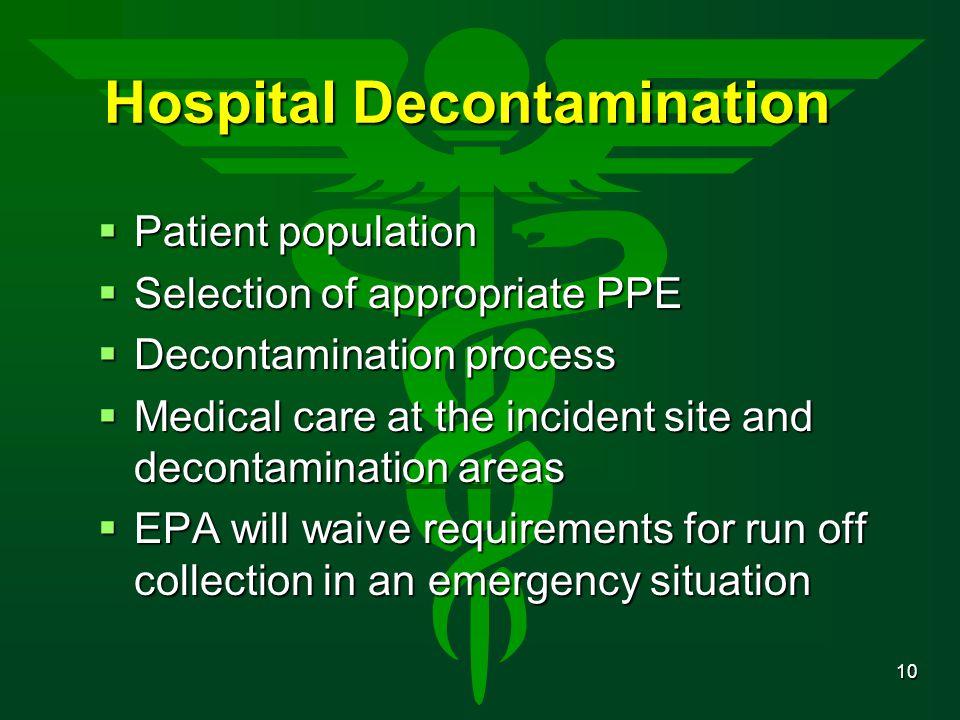 Hospital Decontamination