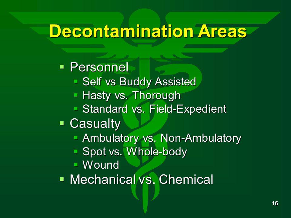 Decontamination Areas