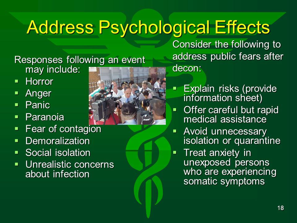 Address Psychological Effects