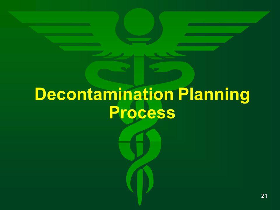 Decontamination Planning Process