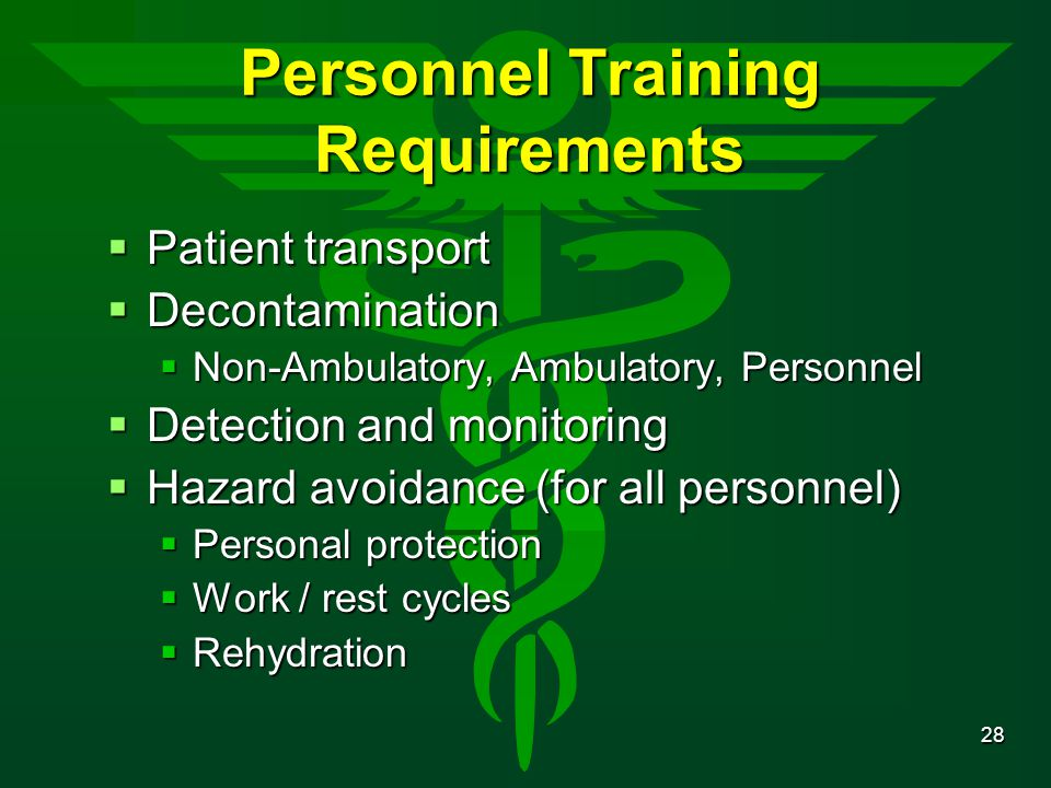 Personnel Training Requirements
