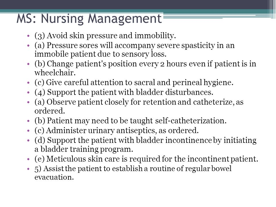 MS: Nursing Management