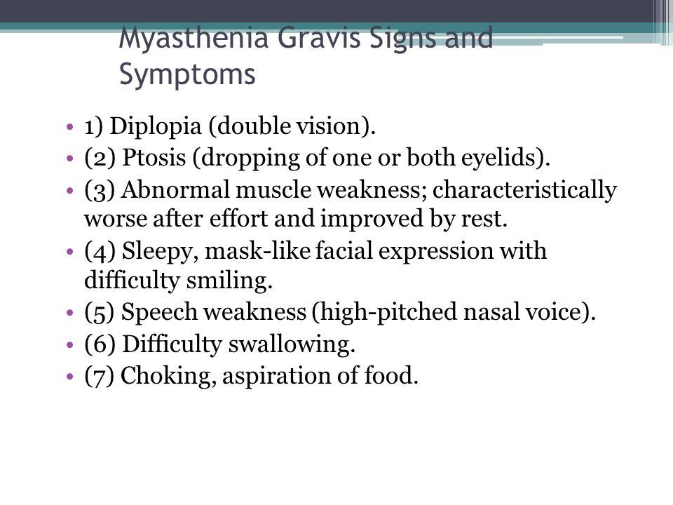 Myasthenia Gravis Signs and Symptoms
