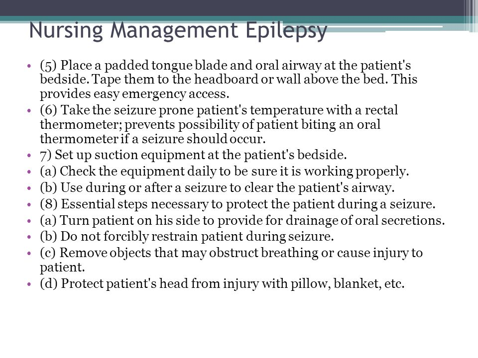 Nursing Management Epilepsy