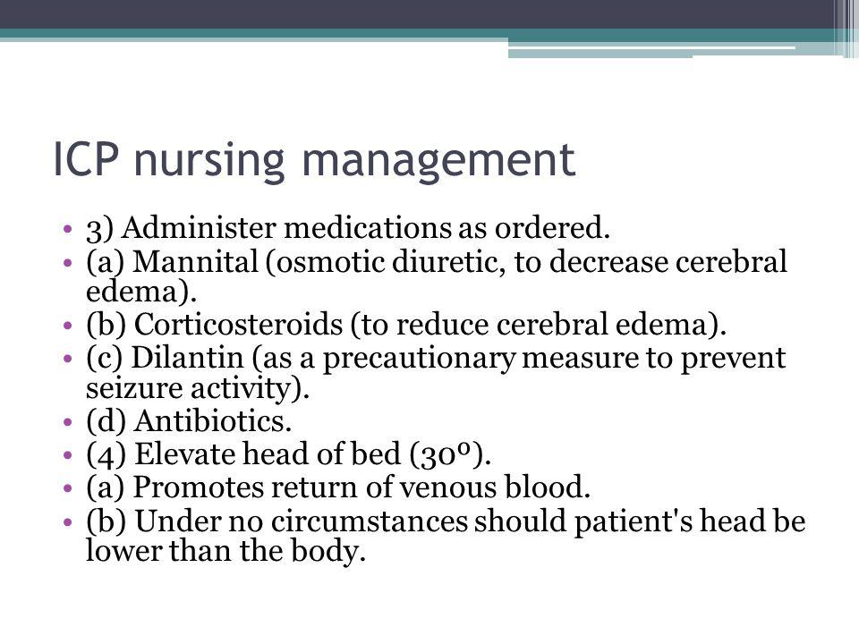 ICP nursing management