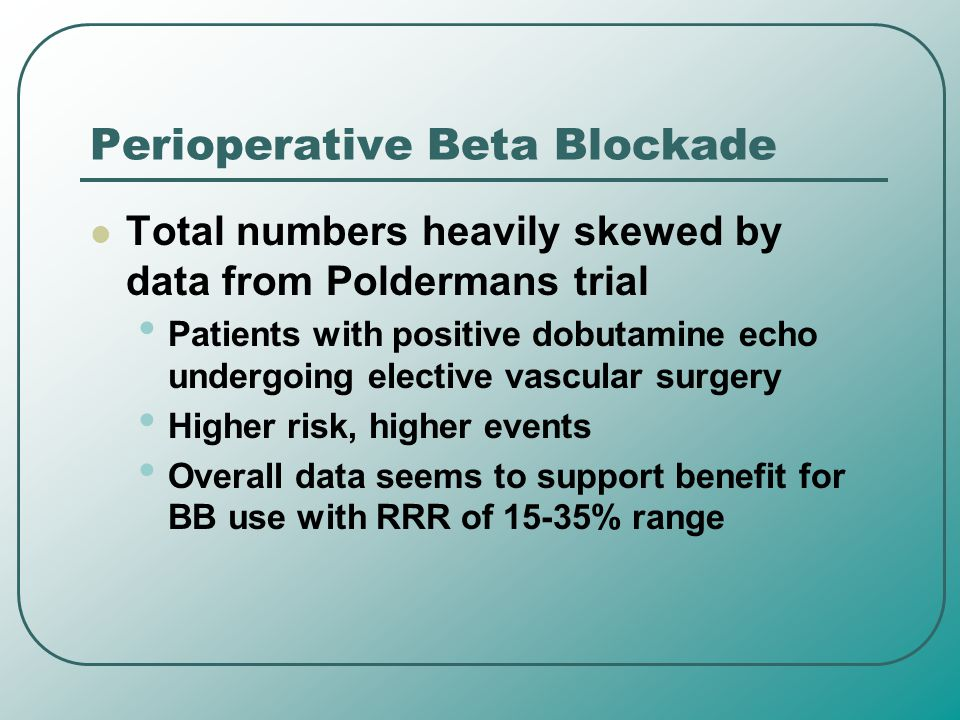 Perioperative Beta Blockade