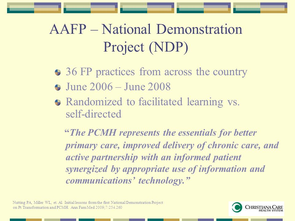 AAFP – National Demonstration Project (NDP)
