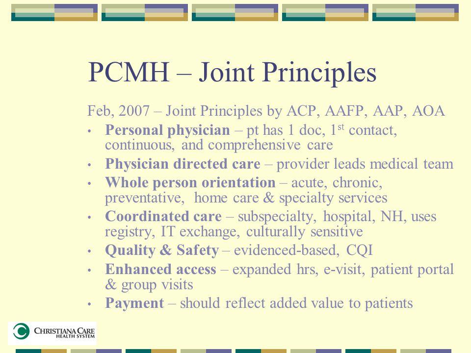 PCMH – Joint Principles