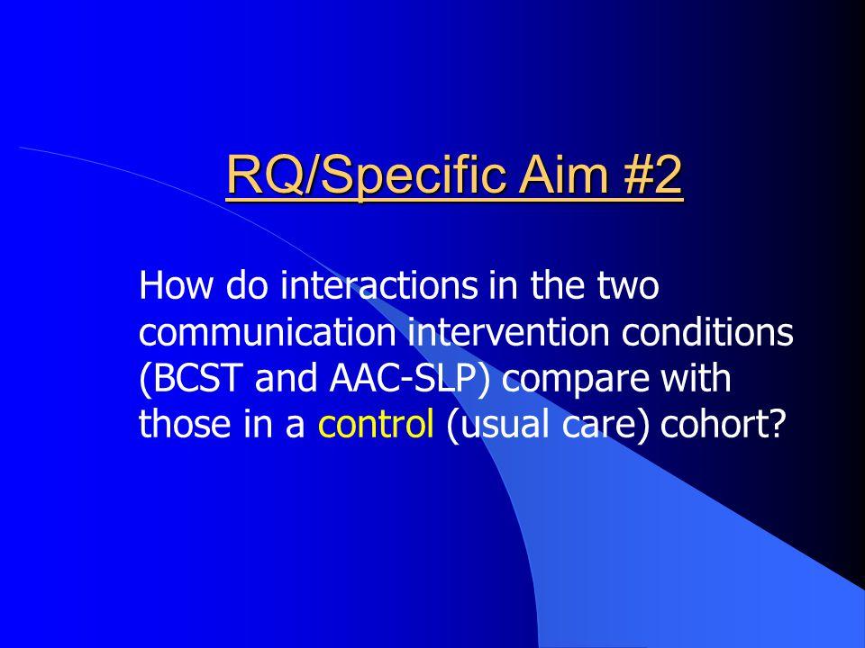 RQ/Specific Aim #2