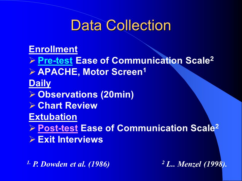 Data Collection Enrollment Pre-test Ease of Communication Scale2
