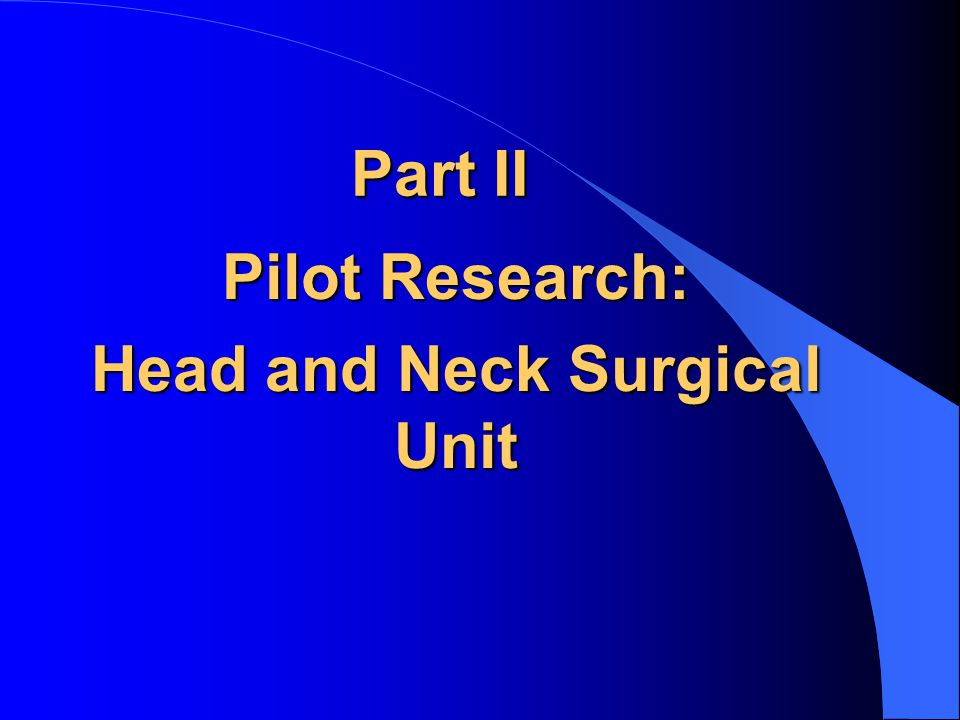 Head and Neck Surgical Unit