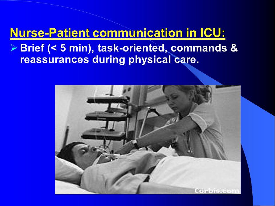 Nurse-Patient communication in ICU: