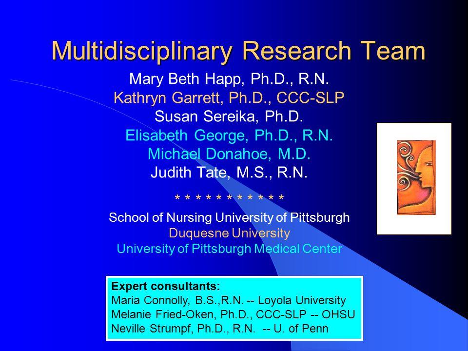 Multidisciplinary Research Team
