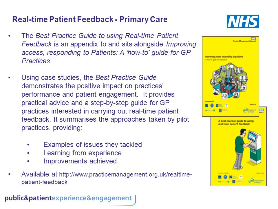 Real-time Patient Feedback - Primary Care