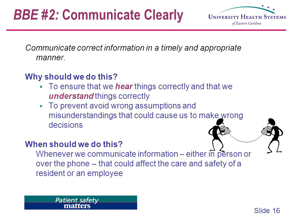 BBE #2: Communicate Clearly