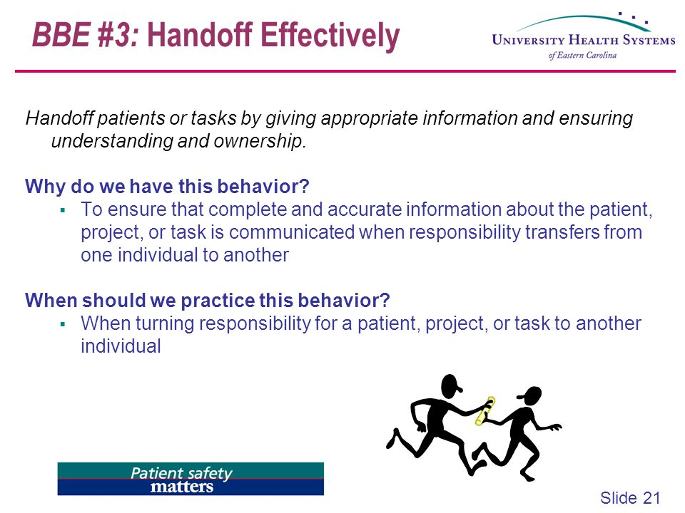 BBE #3: Handoff Effectively