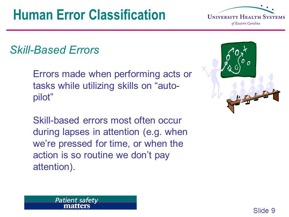 Human Error Classification