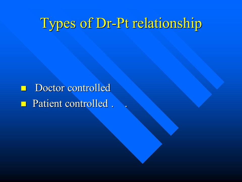 Types of Dr-Pt relationship