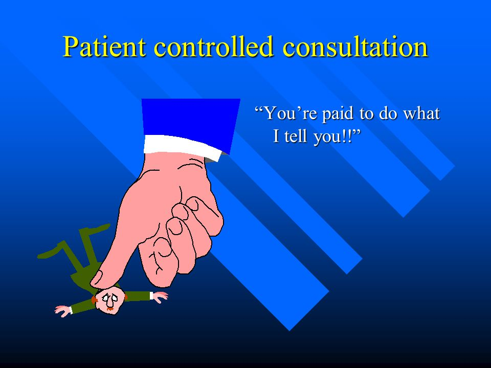 Patient controlled consultation