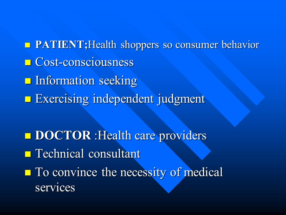 Exercising independent judgment DOCTOR :Health care providers