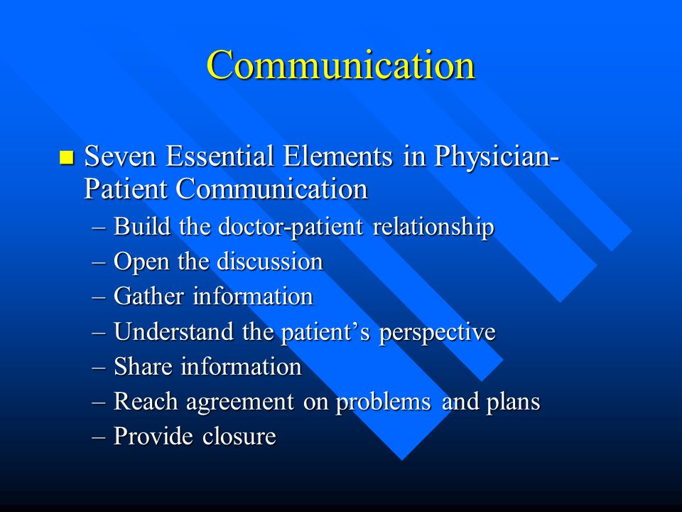 culture language and the doctor patient relationship