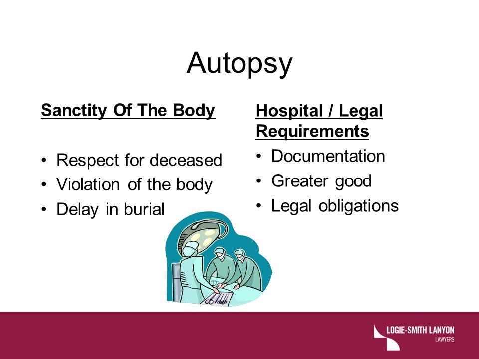 Autopsy Sanctity Of The Body Hospital / Legal Requirements