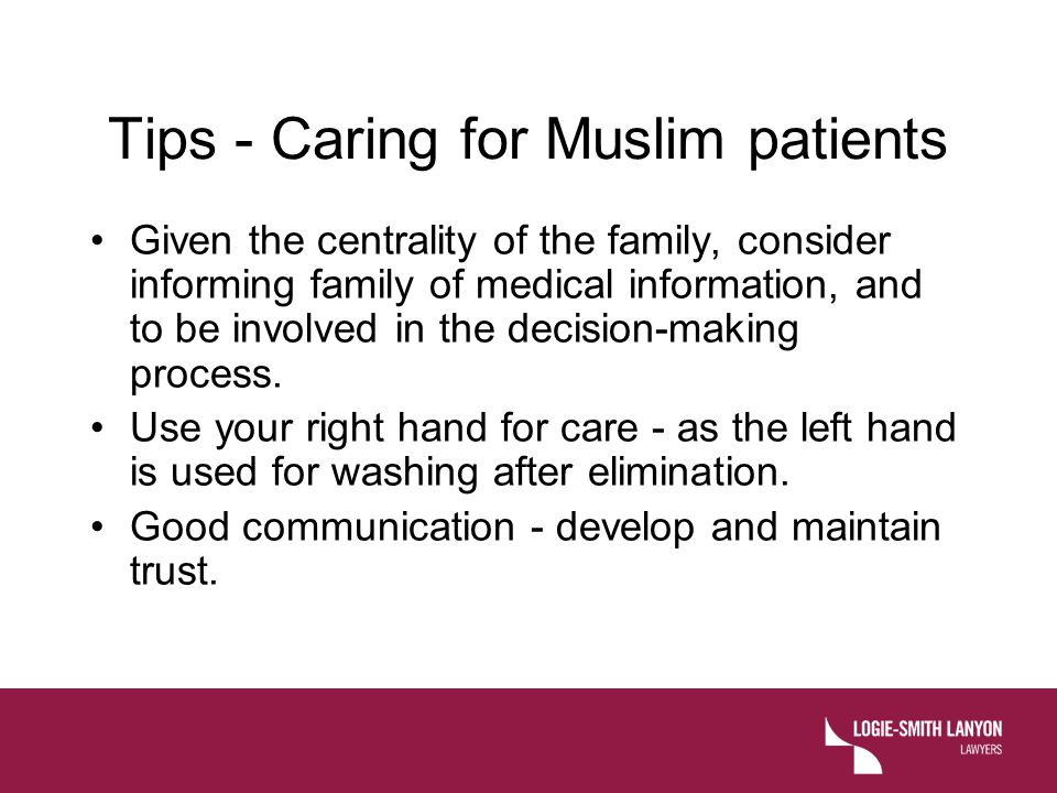 Tips - Caring for Muslim patients