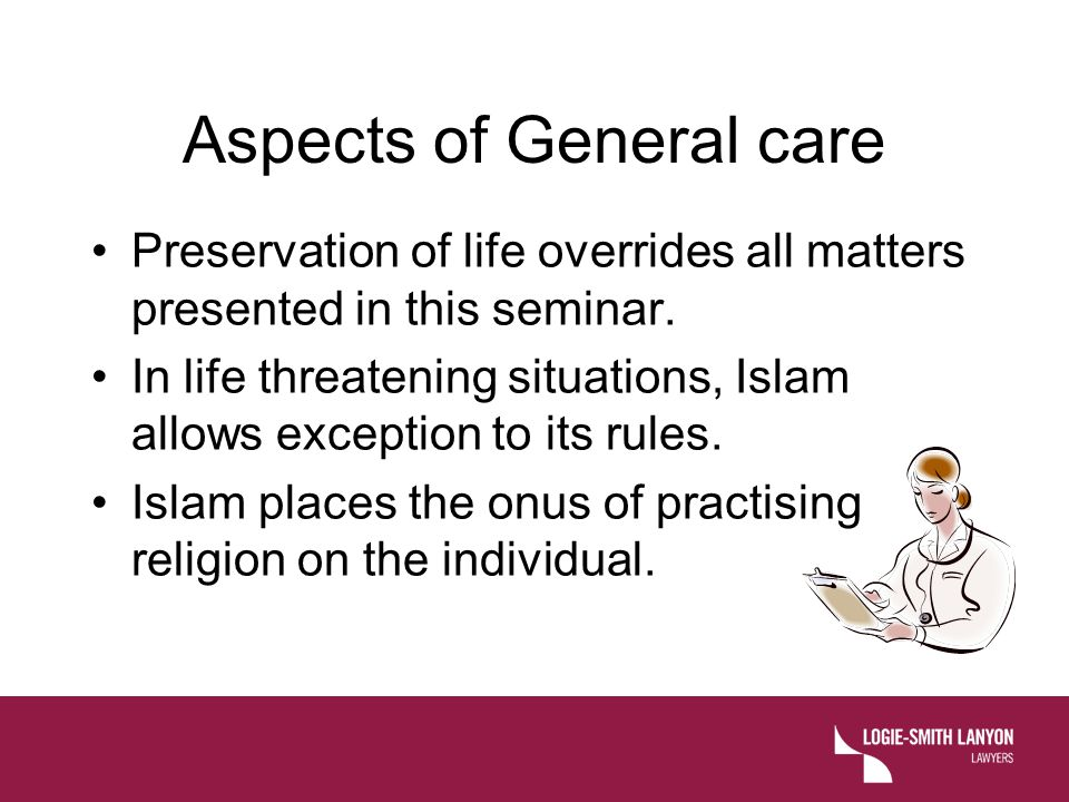 Aspects of General care