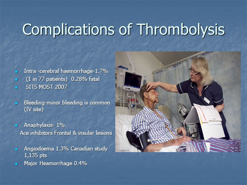 Complications of Thrombolysis