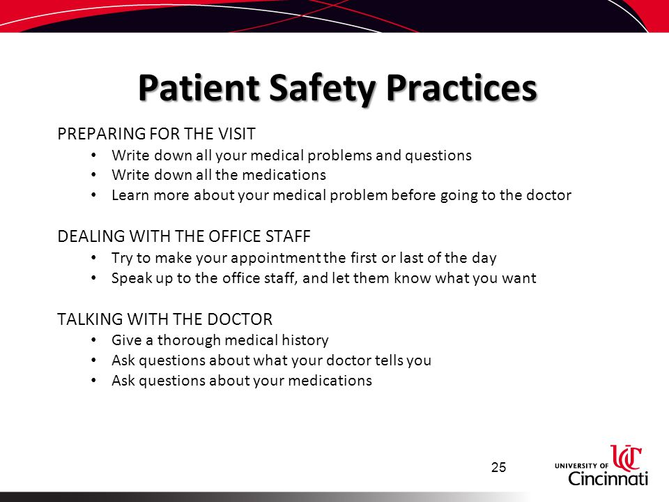 Patient Safety Practices