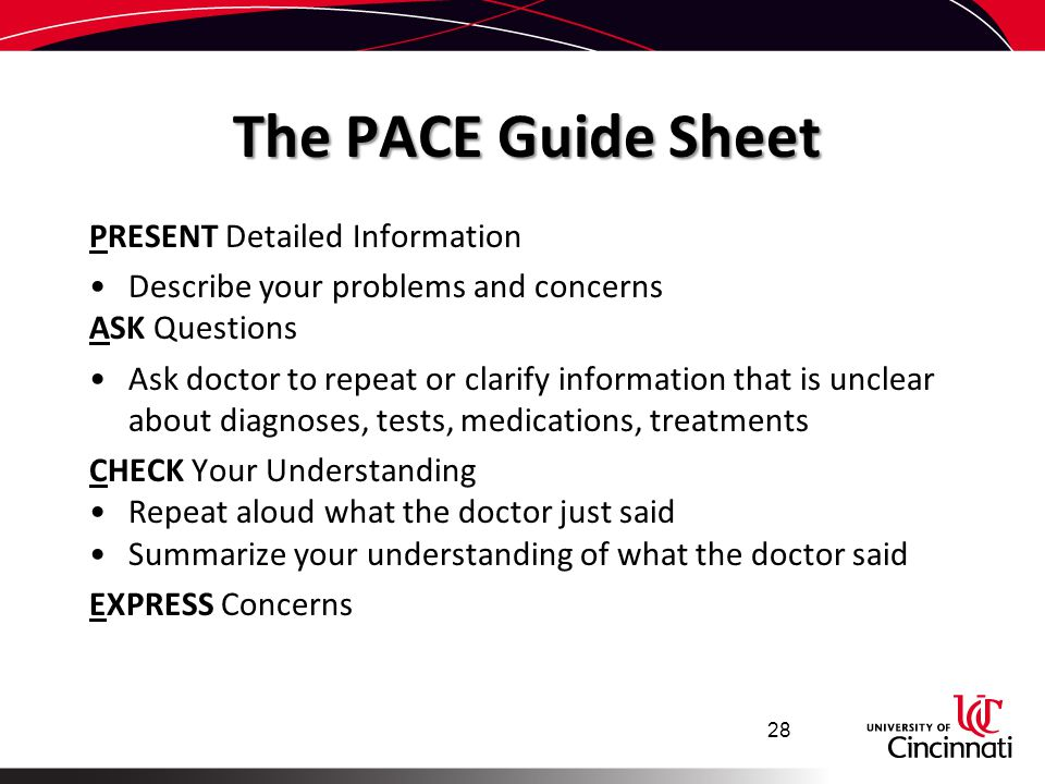 The PACE Guide Sheet Present Detailed Information