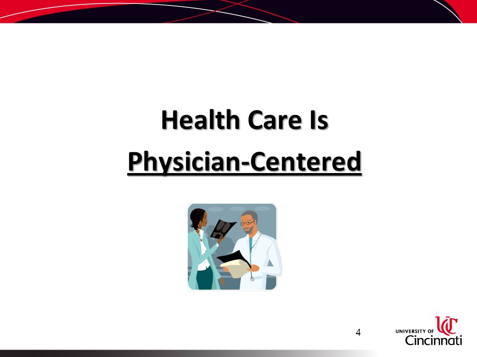 Health Care Is Physician-Centered