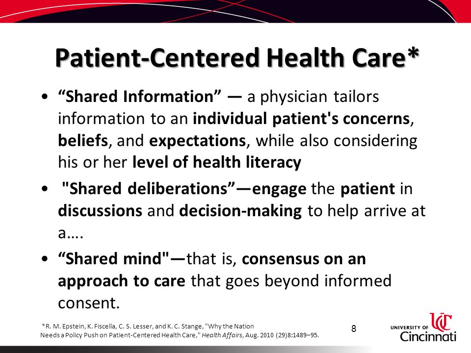 Patient-Centered Health Care*