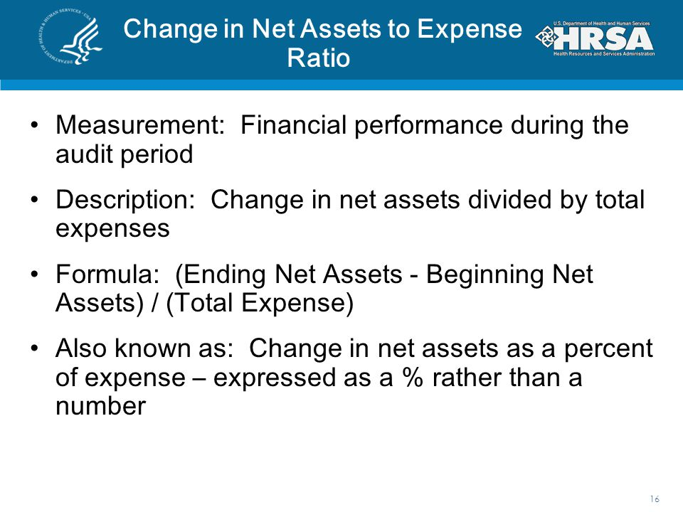 Change in Net Assets to Expense Ratio