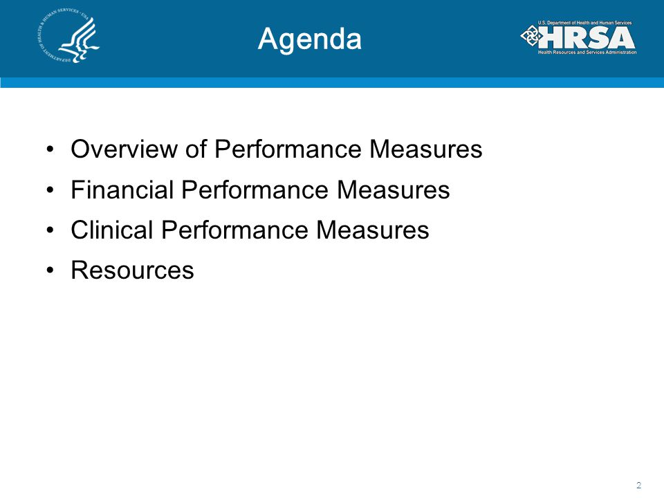 Agenda Overview of Performance Measures Financial Performance Measures