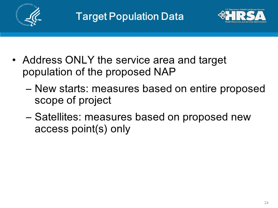 Target Population Data