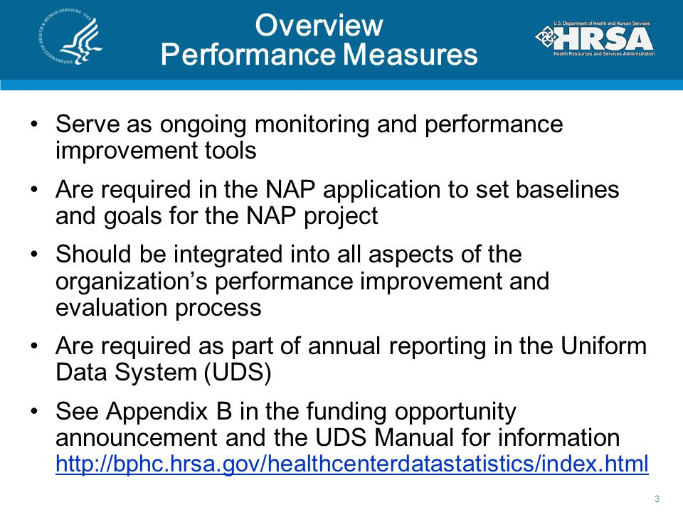Overview Performance Measures