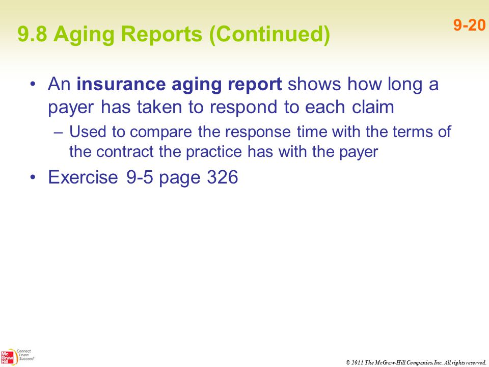 9.8 Aging Reports (Continued)