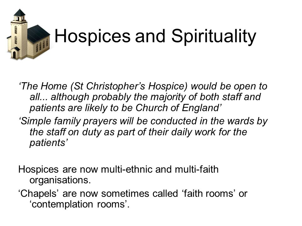 Hospices and Spirituality