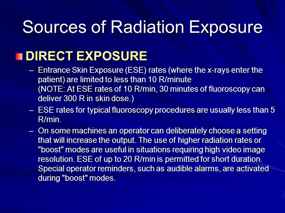 Sources of Radiation Exposure