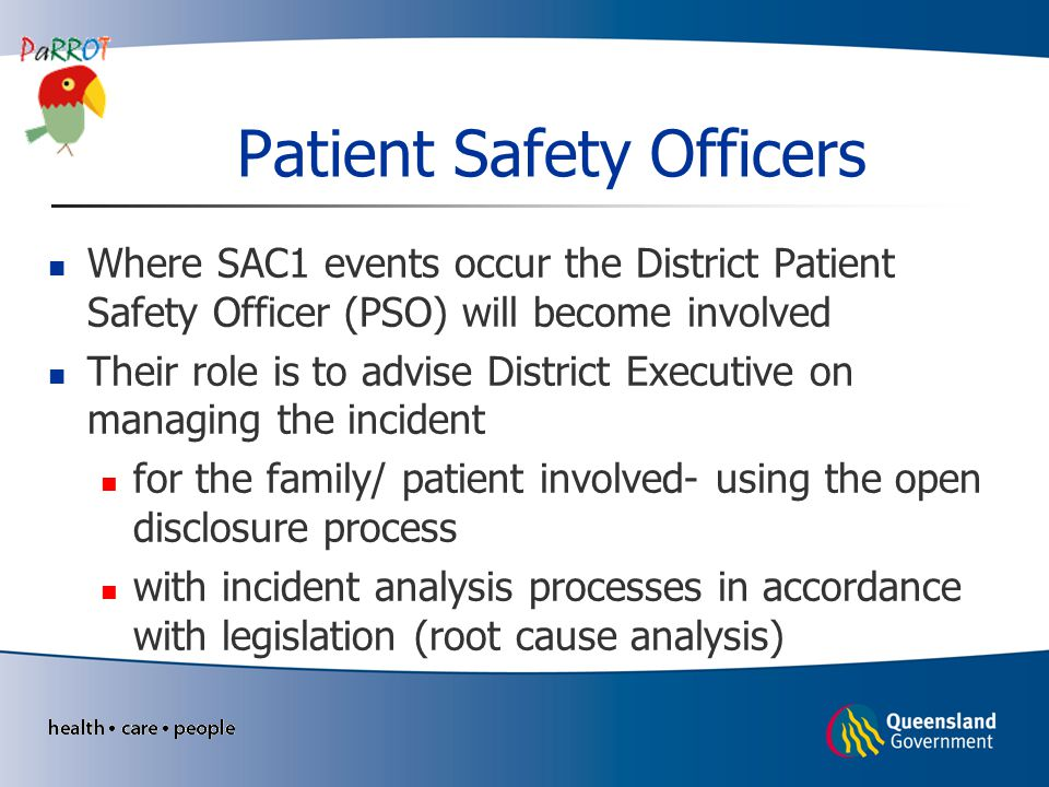 Patient Safety Officers